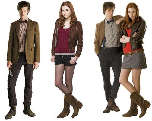 Halloween ideas. Anna's Amy Pond and Charlie is the Doctor. We'll be Dalek.