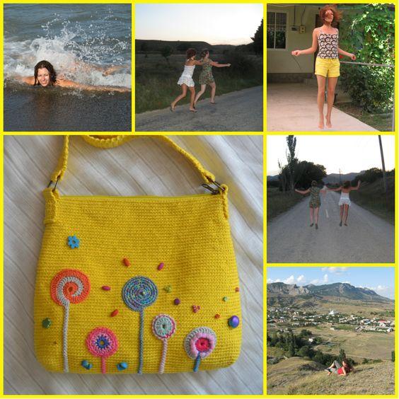 """Сумка """"Солнечная Долина"""". Женские сумки. Готовые изделия и на заказ."""