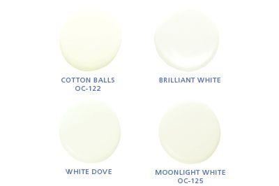Benjamin moore colors cotton balls oc 122 brilliant for Benjamin moore cotton balls