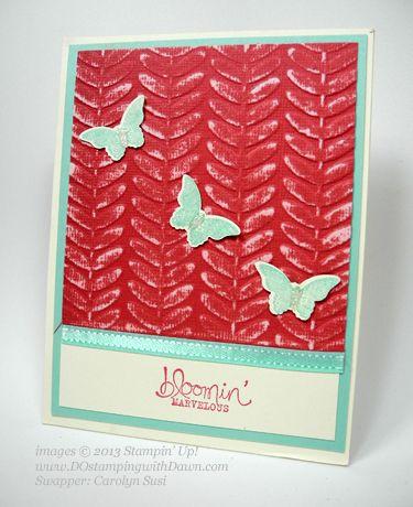 Sale-a-bration, Bloomin' Marvelous stamp set, Vine Street embossing folder