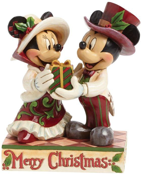 Enesco Disney Tradition - Figurina de Mickey y Minnie con regalo, 15,5 cm: Amazon.es: Hogar