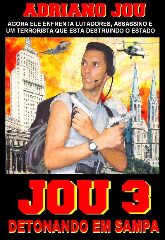 FILME JOU 3 DETONANDO EM SAMPA Com Adriano Santos Caldeira, Agnaldo, Celso e Claudinei Ano (2001) Filme escrito, produzido e dirigido por Adriano Jou
