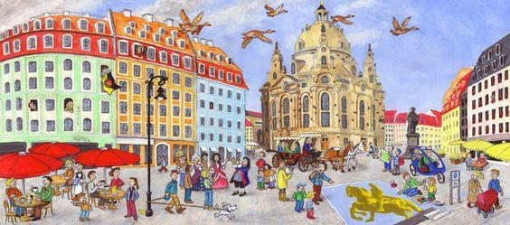 Mein Stadt-Wimmelbuch Dresden: Amazon.de: Wolfgang Slawski: Bücher