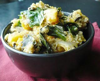 Curried Butternut Squash, Kale and Black Bean Quinoa | Dinner Recipes ...