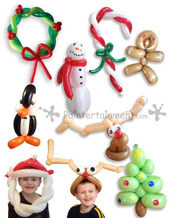 Christmas balloon twisting balloons pinterest candy for Candy cane balloon sculpture