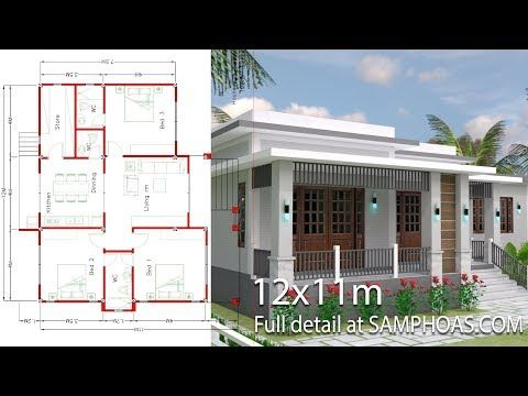 House Plans Idea 12x12 5 With 2 Bedroomsthe House Has One Story House 2 Bedrooms 1 Bathroom Simple House Design Beautiful House Plans Architectural House Plans