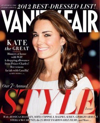 The Duchess of Cambridge for Vanity Fair Cover; September 2012