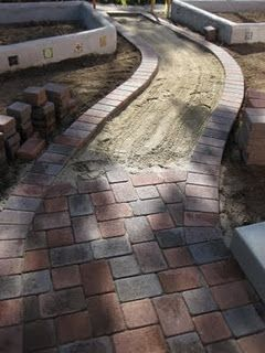 Here they ripped out the straight concrete and went with pavers