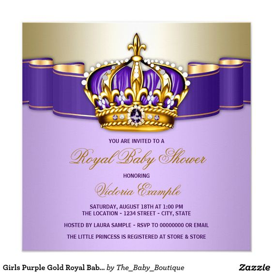 Royal Baby Showers, Royal Babies And Purple Gold On Pinterest