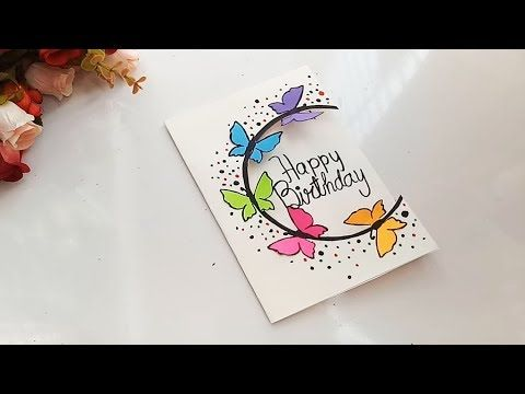 How To Make Special Butterfly Birthday Card For Best Friend Diy Gift Idea Youtube Simple Birthday Cards Butterfly Birthday Cards Card Making Birthday