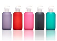 BKR Bottles- Durable glass water bottles that won't leach chemicals into your water!  And they're so pretty!