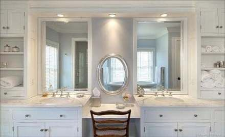 25 Ideas Bath Room Vanity With Makeup Area Double Sinks Makeup