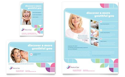 Medical Spa Flyer \ Ad Template Design StockLayouts My - medical brochure template