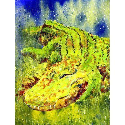 Caroline's Treasures Alligator 2-Sided Garden Flag