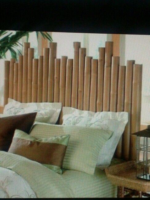 Cabecero de bambu para la casa pinterest - Cabecero de bambu ...
