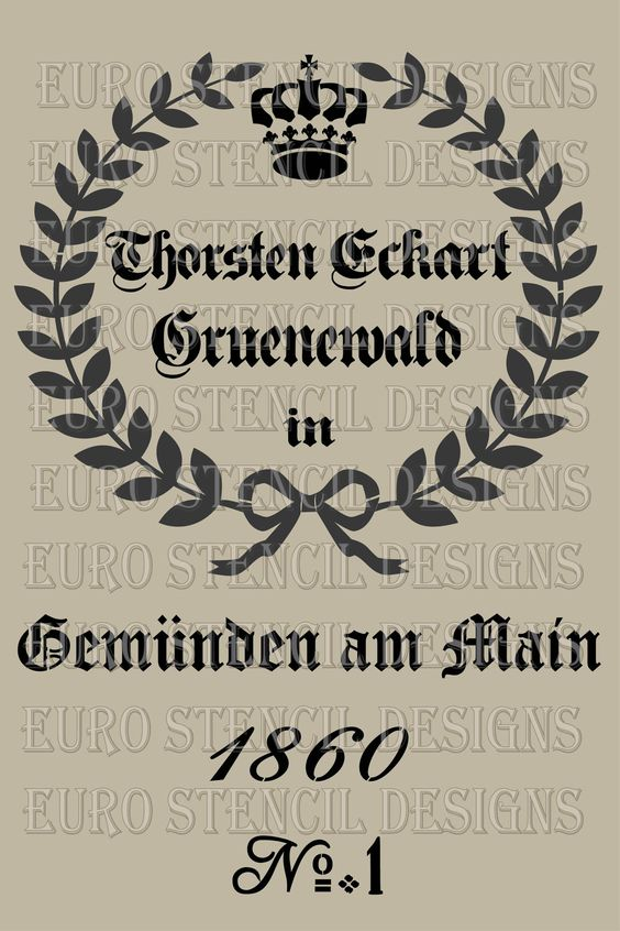 Euro Stencil Design Replica of a Feedsack Grain Sack Thorsten