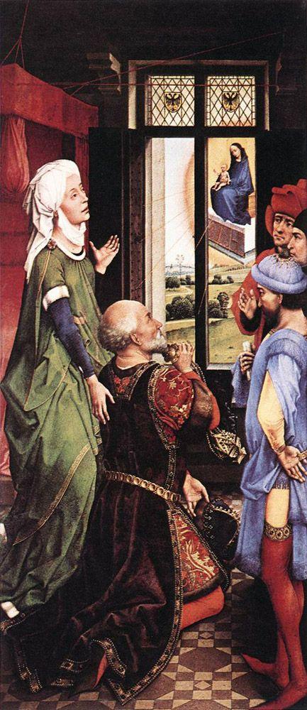 Rogier Van Der Weyden Pierre Bladelin Triptych Left Panel