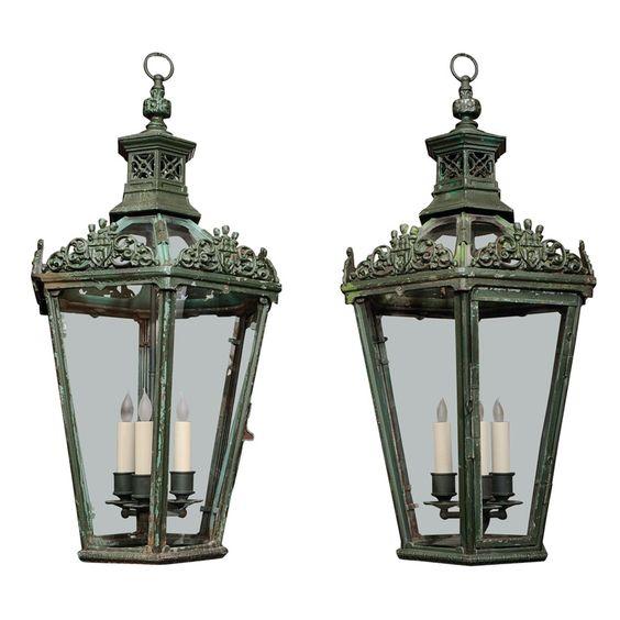 Bronze Painted Lantern