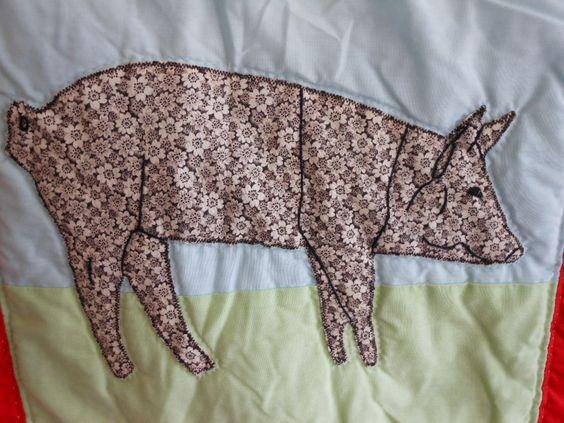 Piggy applique for quilt