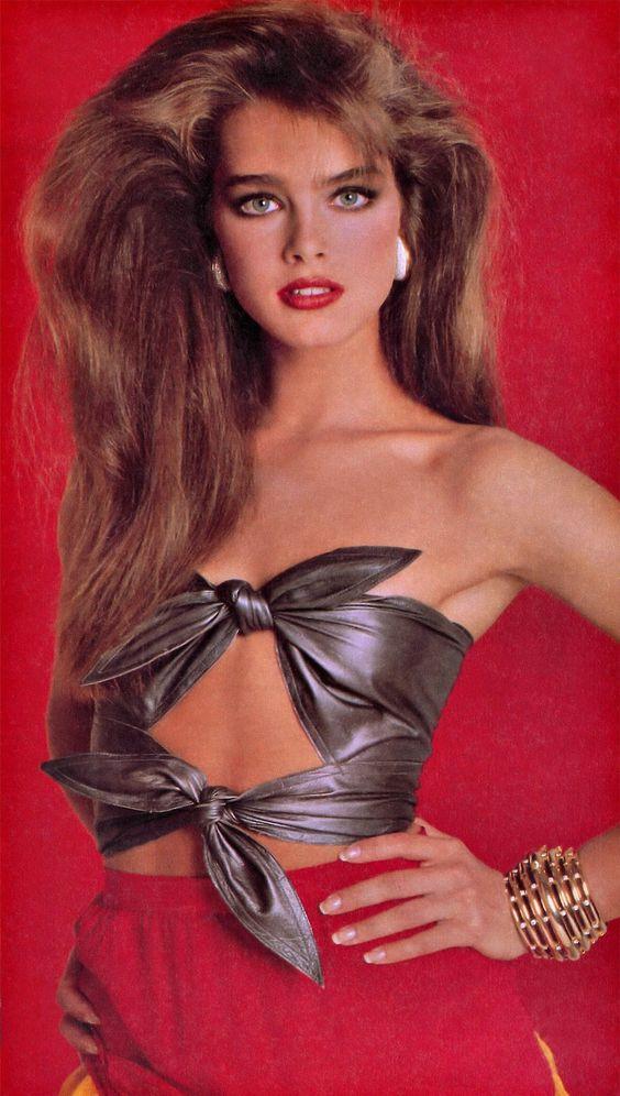 Brooke Shields by Francesco Scavullo for Cosmopolitan US in 1981.