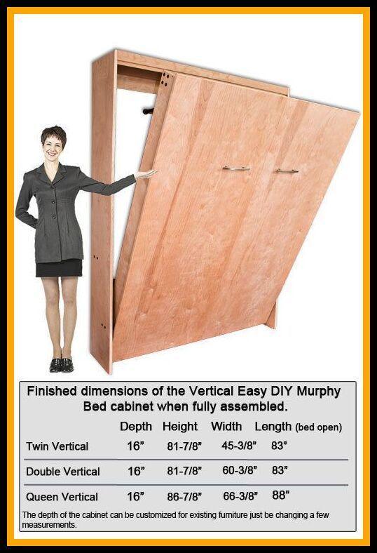 Horizontal Queen Murphy Bed Dimensions, Queen Murphy Bed Hardware