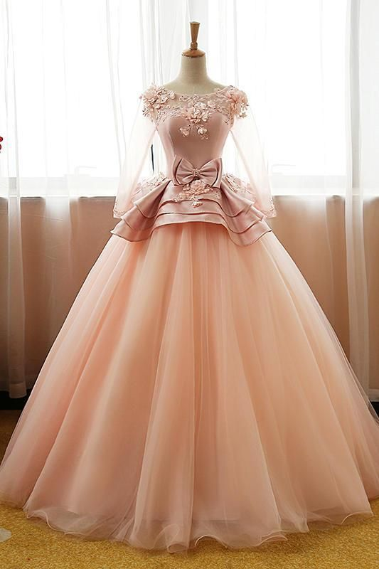 Unique Tulle Long Prom Dress Tulle Evening Dress Sweet 16 Dress