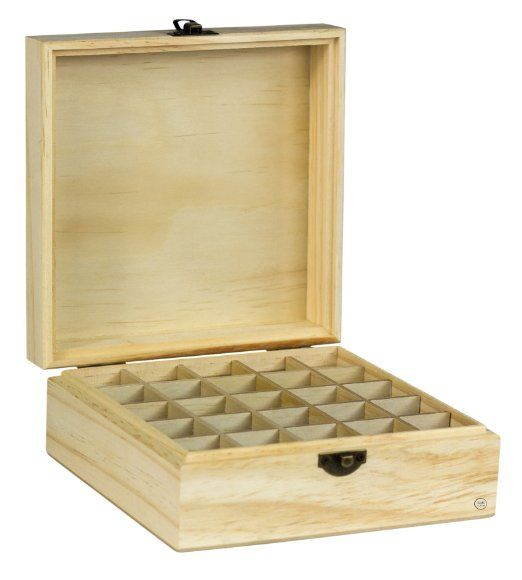 Wooden Essential Oil Box & Case - Perfect Essential Oils Storage System - Protects & Organizes 5-15 ML Plant Extract Bottles