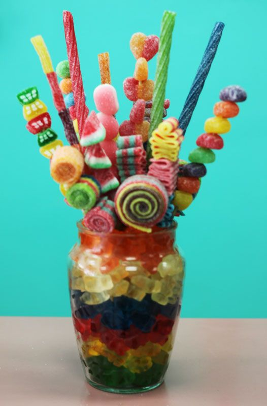 Candy bouquet like the gummy bears centerpieces