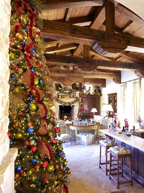 Colorful Christmas Tree.   http://www.hgtv.com/decorating-basics/15-christmas-tree-decorating-ideas/pictures/page-6.html?soc=pinterest