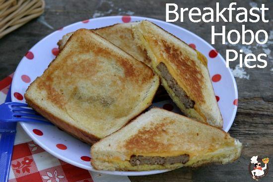 Camping breakfast hobo pies