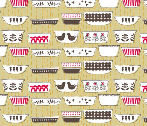More kitchen chairs!  pyrex fabric by cleverviolet on Spoonflower - custom fabric