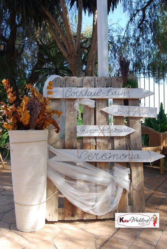 Decoracion boda con palets buscar con google bodas - Decoracion con palets ...