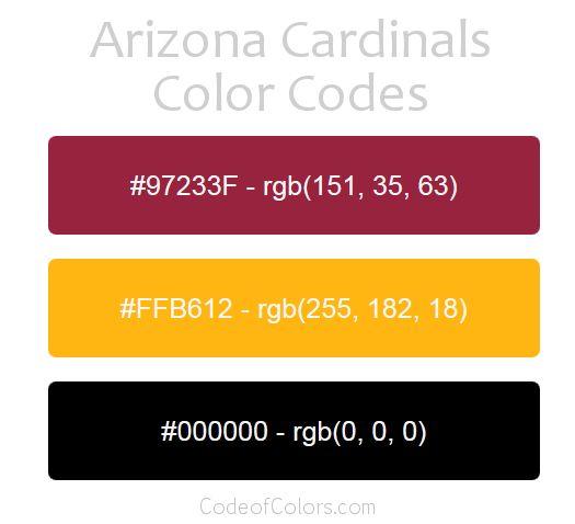 team colors of the arizona cardinals hexadecimal and rgb codes for the arizona cardinals logo hex and rgb color palette schemes for the arizona cardinals