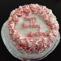 Red velvet Rose Swirl Rum cake!