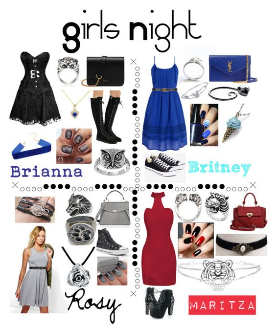 """Untitled #39"" by britxd on Polyvore featuring art and girlsnightout"
