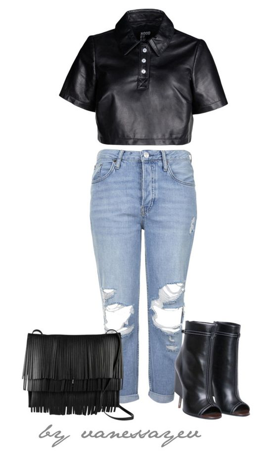 """#467"" by vanessayev ❤ liked on Polyvore featuring Topshop, Hood by Air and Proenza Schouler"