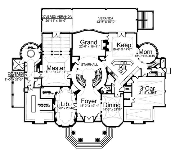 Home plans homepw00246 8 100 square feet 4 bedroom 4 for Victorian manor floor plans