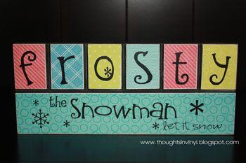 .: Christmas Crafts, Blocks Frosty, Christmas Blocks, Christmas Movie, Crafts For Christmas, Christmas Card, Christmas Ideas