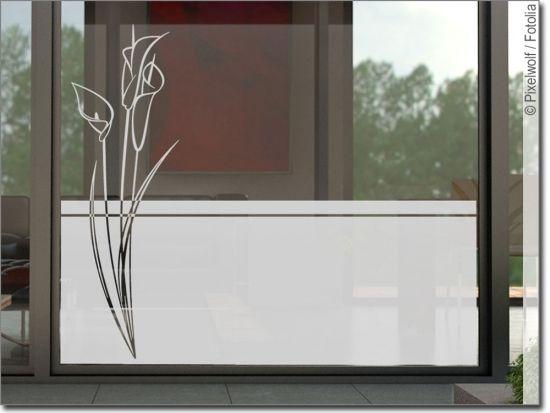 Sichtschutzfolie Blume Callas Sichtschutzfolie Sichtschutz Sichtschutz Pflanzen