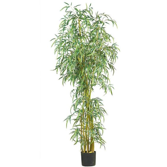 Fancy Style Slim Bamboo 7' silk tree on natural bamboo trunks is very lifelike and it is presented by ExcellentSilkFlowers.com.