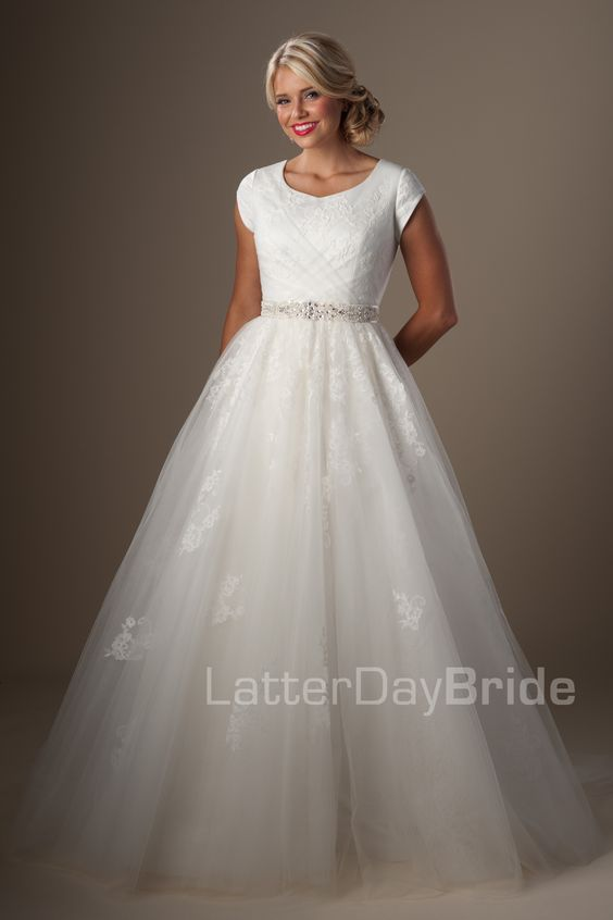 The o 39 jays wedding and latter day bride on pinterest for Latter day bride wedding dresses