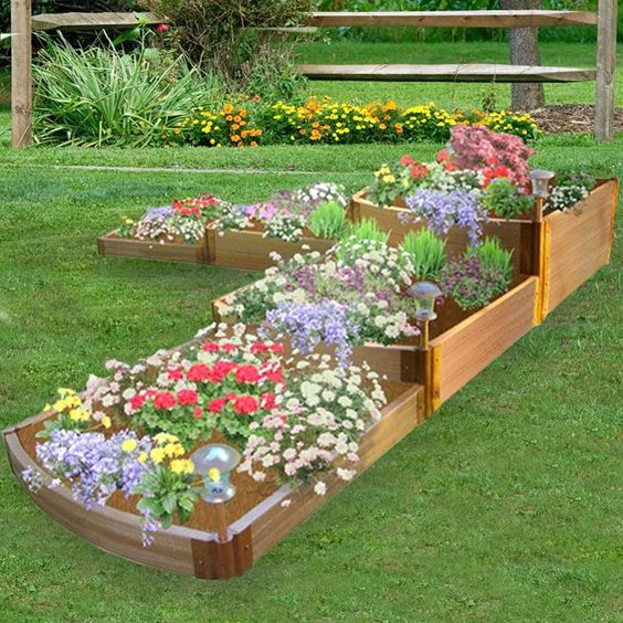 Patio Planter Idea Garden Edging Bed Kit Frame It All Split