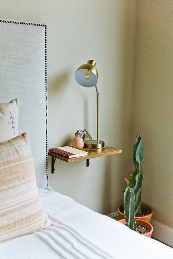 7 Unconventional Nightstand Ideas That Are Anything But A Snooze Wit Delight Designing A Life Well Lived Bedroom Night Stands Nightstand Decor Floating Shelves Bedroom