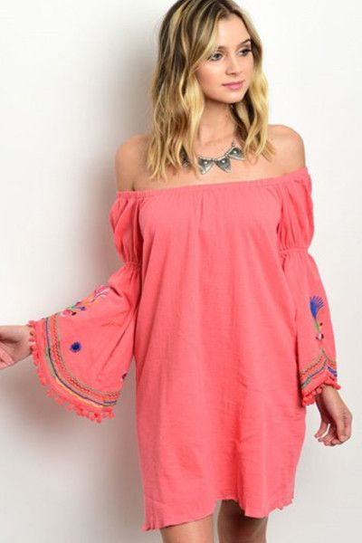 Embroidery + Coral = Beach Babe Alert