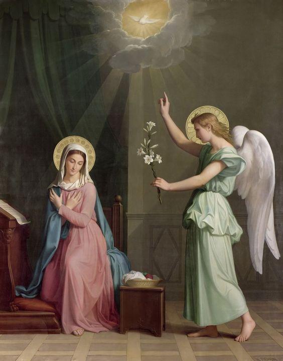 Auguste Pichon (1805-1900)  —The Annunciation, 1859  (1023×1301):