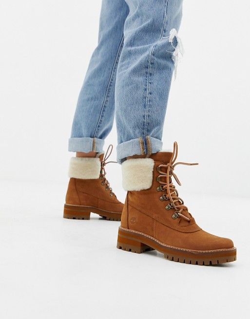 Timberland Courmayeur Valley Shearling Saddle Leather Ankle