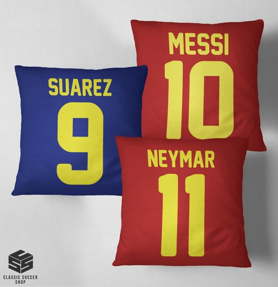 FC Barcelona 3 pillows set soccer football by ClassicSoccerShopEU