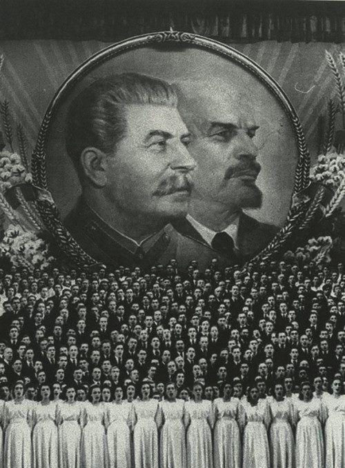 Партия Ленина, Партия Сталина... нас к торжеству коммунизма ведёт...