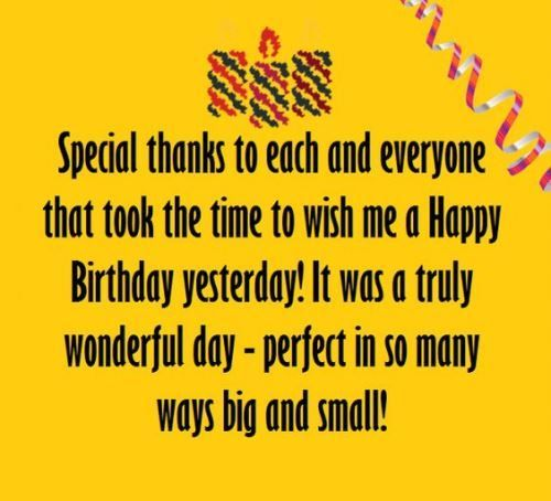 Thank You For Birthday Greetings Your Words Were The Perfect Embel Thank You For Birthday Wishes Thank You Quotes For Birthday Thank You Messages For Birthday