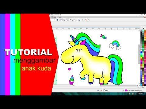 Tutorial Membuat Rainbow Unicorn Youtube Kartun Lucu Belajar Menggambar Lucu